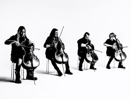 Apocalyptica:Instrumental cello-driven rock opus tours