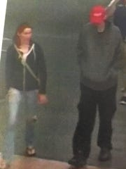 Suspects captured in surveillance video are believed to have used stolen credit cards at businesses in Canal Winchester and Columbus.