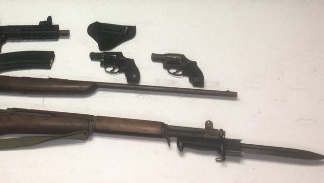 Fellsmere police and Indian River County deputies recovered several weapons Friday during a drug bust.