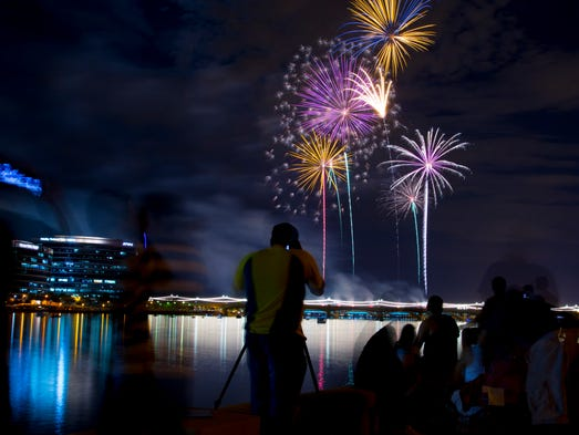 The fireworks finally go off during the Tempe 4th celebration happening Friday, July 4th at Tempe Beach Park.