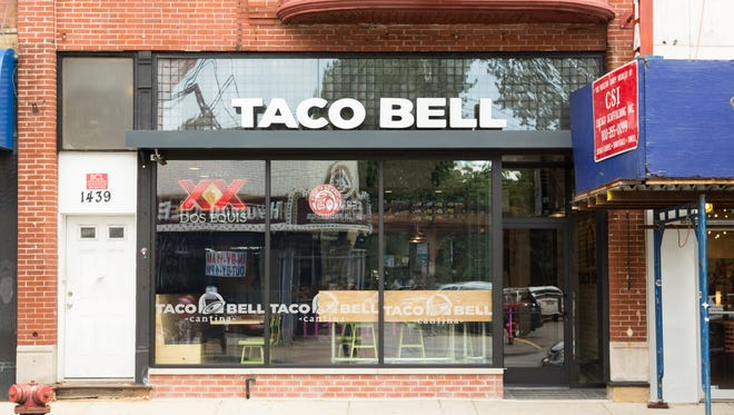 A new Taco Bell Cantina debuted in Chicago's Wicker Park neighborhood Tuesday. It's the first Taco Bell store to offer alcohol.