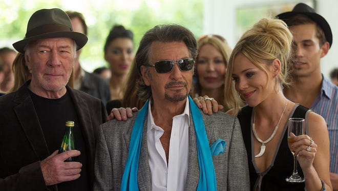 """Al Pacino (with Christopher Plummer and Katarina Cas) stars in """"Danny Collins,"""" which is loosely based on a true story."""