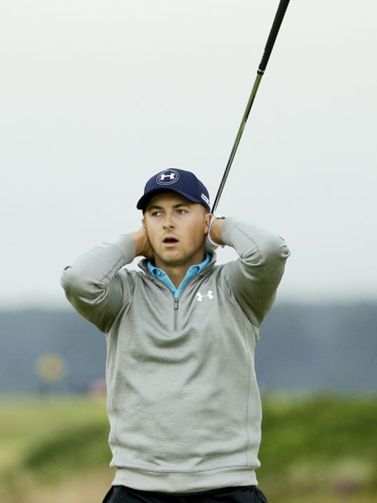 Jordan Spieth fell two shots short of winning his third straight major at the British Open on Monday at the Old Course, St. Andrews, Scotland.