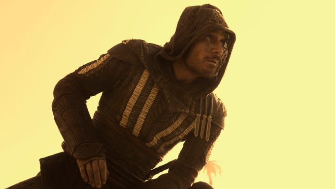 """Michael Fassbender in a scene from """"Assassin's Creed."""""""