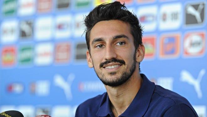 Italian defender Davide Astori.