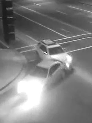 Peoria police are looking for a hit-and-run driver. The suspected vehicle is described as  a white Chevrolet Equinox.