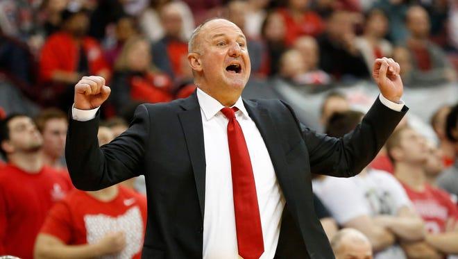 Thad Matta stepped down as Ohio State men's basketball coach Monday.