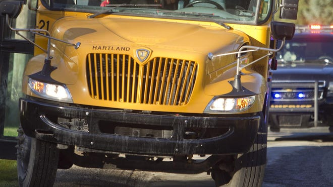 A Hartland Schools school bus was involved in an accident on Maxfield Rd. south of Cundy in Hartland Township Monday morning.