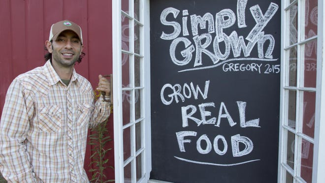 Much of the new construction at Simply Grown orchard is done by Tony Gelardi, who takes pride in being part of the community around Gregory.