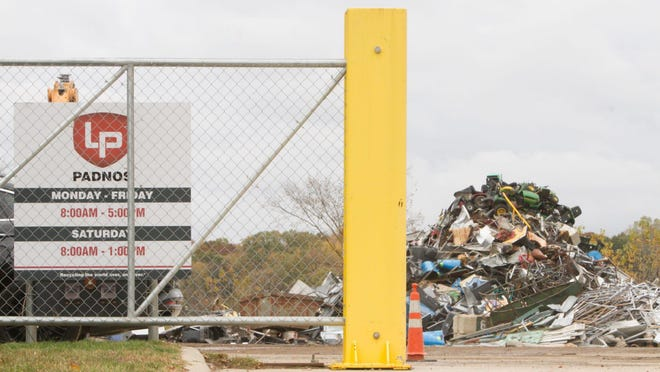 The PADNOS scrapping and recycling facility on Lucy Road in Howell. The company wants to install an industrial shredder on its grounds.