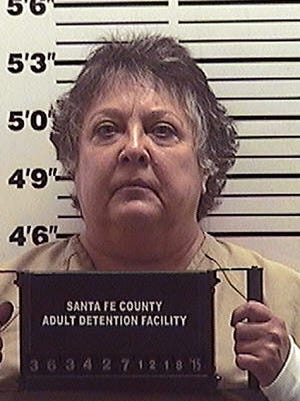 This booking photo provided by the Santa Fe County Jail shows former New Mexico Secretary of State Dianna Duran on Friday. Duran has checked into a county jail to serve out a 30-day sentence as partial punishment for siphoning money from her election account to fuel a gambling addiction.