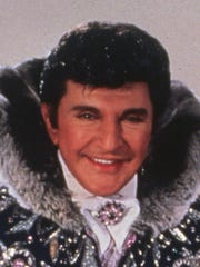 Pictured above is Liberace, the flashy performer known