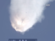 The SpaceX Falcon 9 capsule explodes shortly after
