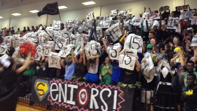 Clinton High School seniors bring it for the first pep rally of the season. Hometown Friday.