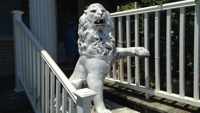 This 4-foot tall statue had been reported stolen July Fourth weekend from the nearby Colonel Arms motel. Ocean City police found it while responding to a loud party.