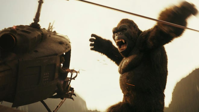 """Kong doesn't take kindly to uninvited guests in """"Kong: Skull Island."""""""