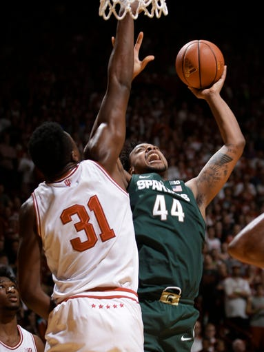 Michigan State forward Nick Ward (44)