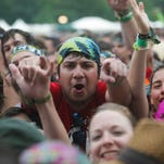 2013. Fans cheer as Matt and Kim rock the crowd at the Lawn stage Sunday.