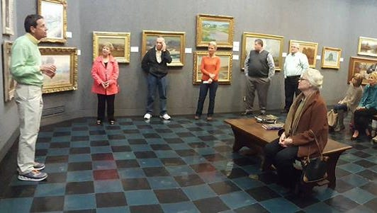 Dr. Dana Reihman discusses  his family's art collection currently on display at Richmond Art Museum.