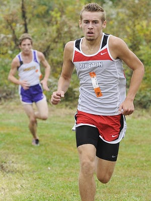 Piketon's Kane Dixon competes during the 2013 SVC Championship Meet at Paint Valley High School. Dixon, a 2015 graduate, was a two-time state meet qualifier and finished 10th overall in 2014.
