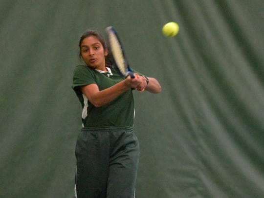 C.M. Russell High tennis player Gail Parambi plays just one sport but said she admires those who make time to play more than a single sport.