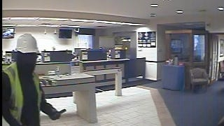A photo from surveillance video shows one of the suspects in a robbery Tuesday at the Talmer Bank branch in Port Huron Township.
