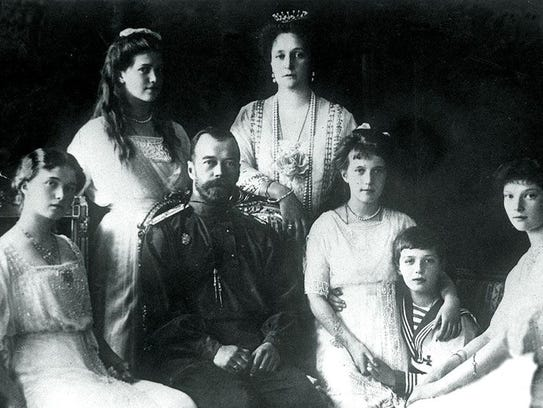 This 1914 file photo shows Russian Czar Nicholas II
