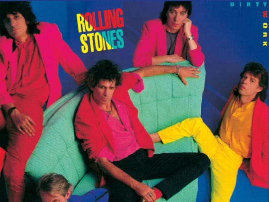"""The cover to The Rolling Stones' 1986 album """"Dirty"""