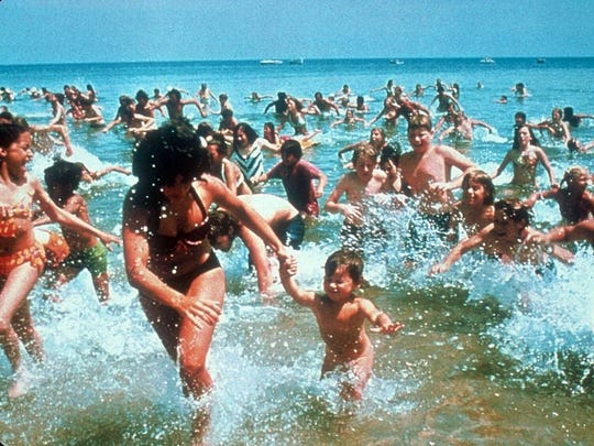 """A free screening of """"Jaws"""" happens Tuesday night, July 26, at Ontario Beach Park as part of Monroe County's Movie and Music Night at the Beach series."""