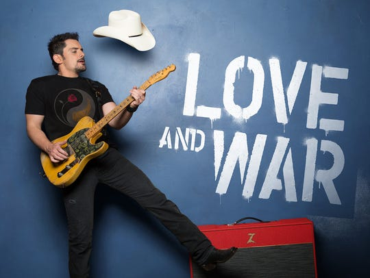 """Brad Paisley's """"LOVE AND WAR"""" will be in stores April"""