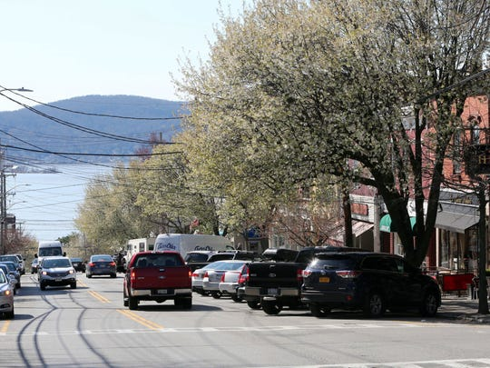 A view looking west on Main Street in Irvington, April 13, 2016. The Irvington School District's overall property values jumped more than 18 percent, due to Greenburgh's townwide reassessment.