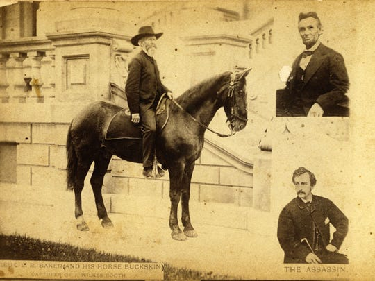 """Old Buckskin,"" the horse Lt. Luther B. Bakerrode"
