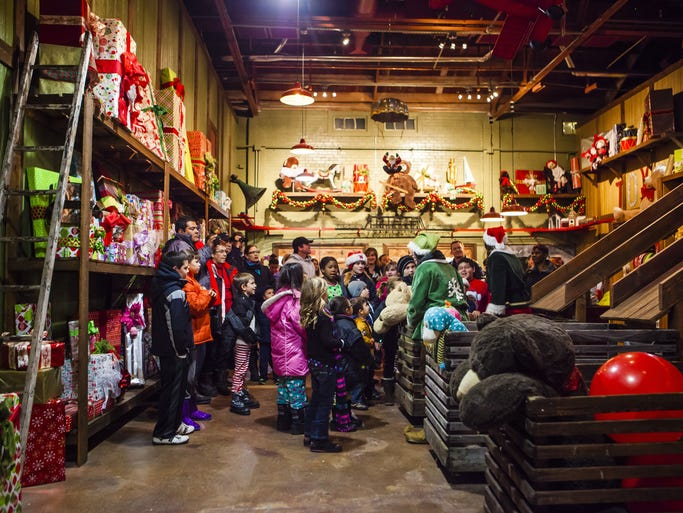 The North Pole Experience in Flagstaff is a visit to Santa's workshop.