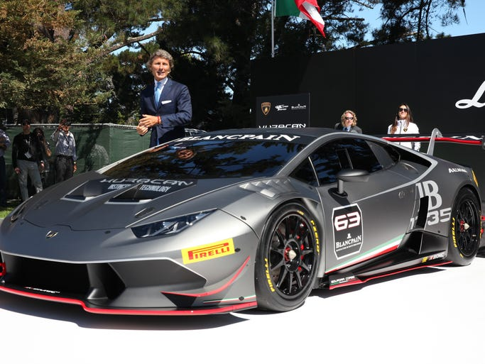 Lamborghini CEO Stephan Winkelmann debuts the Huracan Super Trofeo at the Quail Motorsports Gathering in Carmel Valley, Calif.