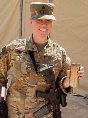 Sgt. Jen Sabrowsky of Appleton serves with the Wisconsin Army National Guard.