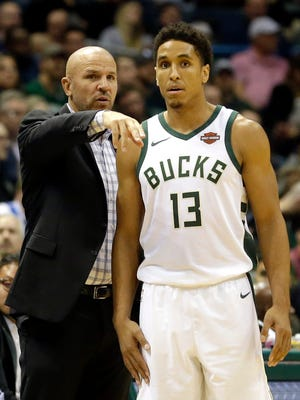 Bucks coach Jason Kidd (left) stresses transition defense to his players to limit quick three-pointers and easy baskets.