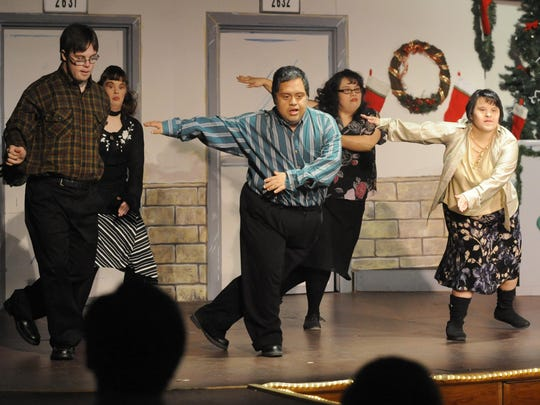 The Creative Center's annual holiday show has become a tradition during Bailey Hagar Jr.'s time at the Visalia-based day-training activity center for developmentally disabled adults.