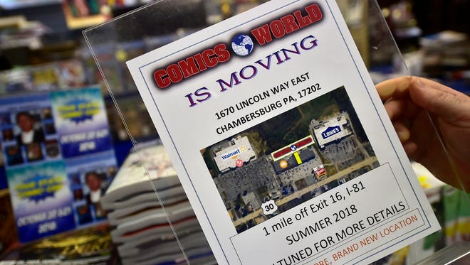 Comics World will be moving from Chambersburg Mall to Lincoln Way East Shopping Center. The new store will open around mid-July.