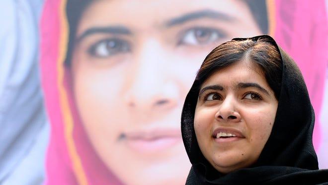 A 2013, photo shows Malala Yousafzai during an event in Washington.
