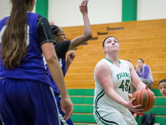 Yorktown took on Central in girl's basketball last