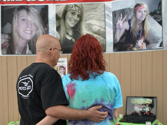Amy Revely and Steven Matrese were among the friends and family of Kortne Stouffer, who gathered in Grantville on Friday evening, July 29, to remember the young woman who disappeared without a trace in July 2012. The event included music, a bonfire, and the release of 25 balloons in honor of Kortne who is 25 this year.