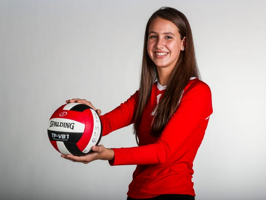 Lily Tessier, ECS - Volleyball. All-Area fall Athlete