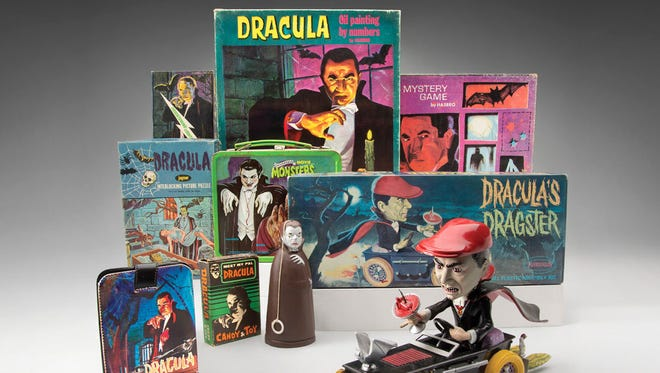 Dracula-themed toys and games.