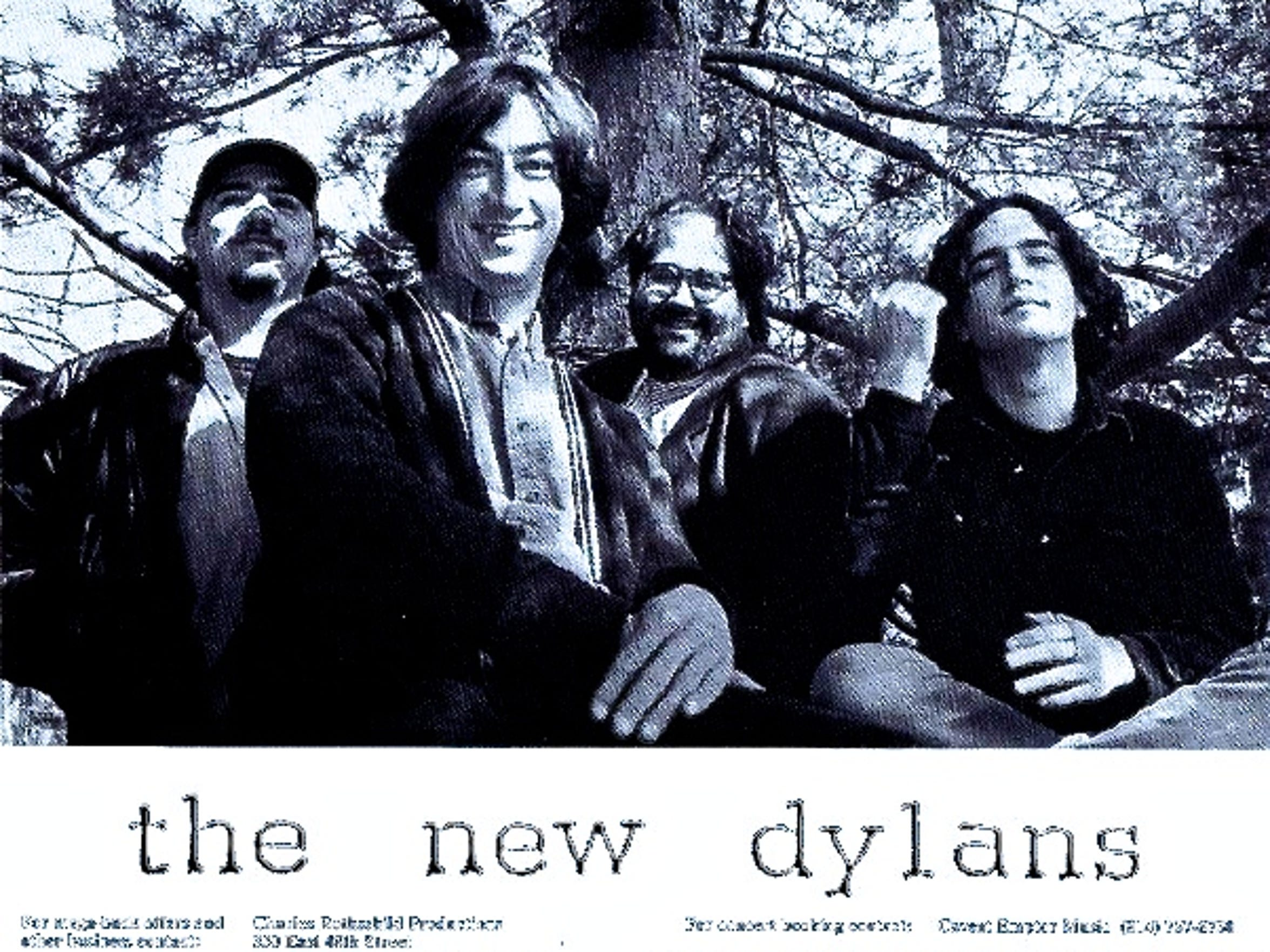 New Dylans, 1996, group photo in Rodchester, New York, from left, Dylan Savage, Reese Campbell, Jim Reilley and Tom Gilbert, on right.