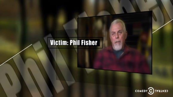 """Arden's Phil Fisher on """"The Colbert Report"""" last night."""