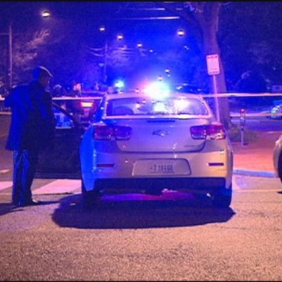 The scene of the shooting on Butternut Street