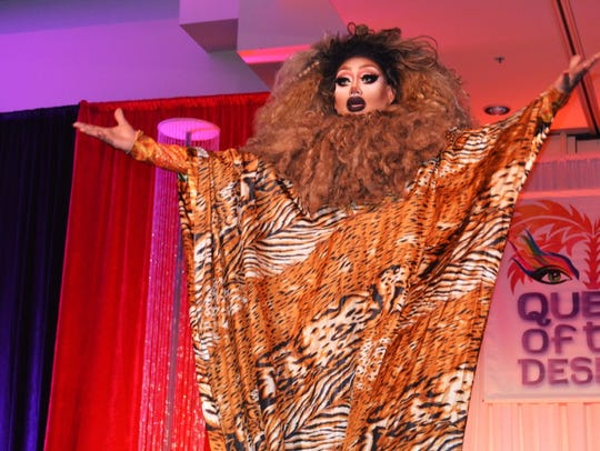 Contestant Mystic BeFierce Miller performs at the Desert