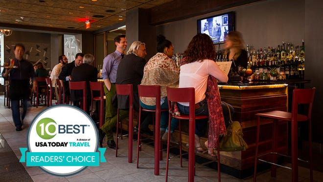 Square 1682 in Philadelphia's Hotel Palomar was voted the USA's best hotel bar by 10Best.com and USA TODAY readers.