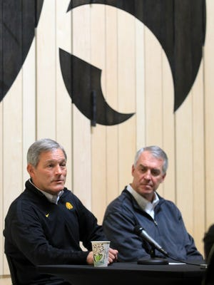 """Iowa head coach Kirk Ferentz and athletic director Gary Barta have evaluated a disappointing 7-5 season but see the TaxSlayer Bowl as a fresh start. """"That's the attitude I've seen our team take already,"""" said Ferentz. """"We've only had two workouts, but so far (they've) been good."""""""