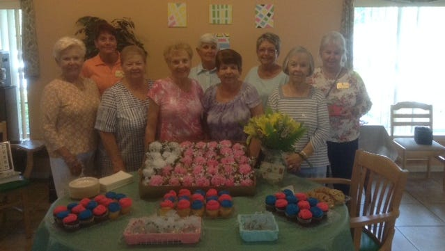 EL-DOEs of Sebastian Elks Lodge 2714 recently visited the Pelican Garden Assisted Living Center, bringing Mother's Day gifts to the residents. Front row, from left: Kathy Ollis, Carol Vitale, Ruth Webster, Frances Quinn and Pat Bidoul. Back row: Audrey Huddy, Debbie Lawrence, Betty Hays and Deanna Randolph.